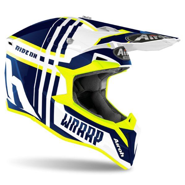 barato casco airoh wraap broken azul