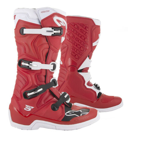 bota alpinestars tech 5 roja blanca en crosscountry madrid