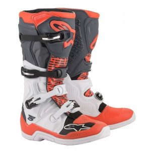 botas alpinestars tech 5 blanco naranja fluor crosscountry