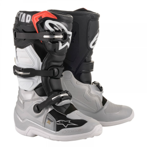 botas alpinestars tech 7 s niño caña baja gris negra