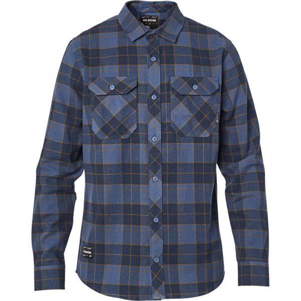 camisa Fox franela Traildust 2 0 azul outlet (2)