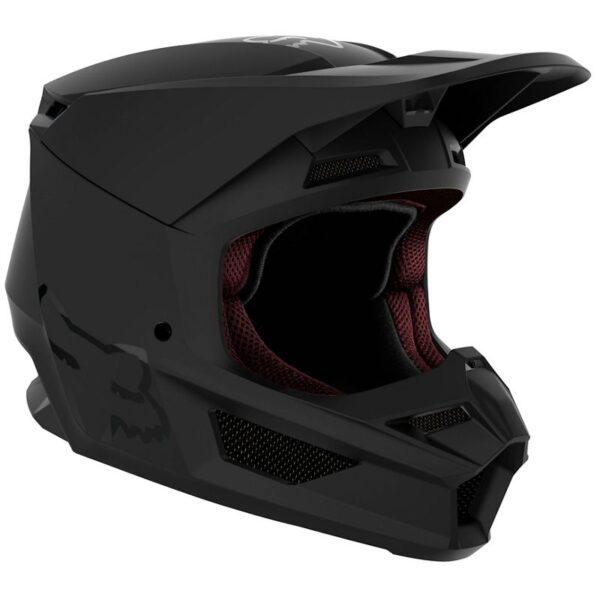 casco niño v1 negro matte