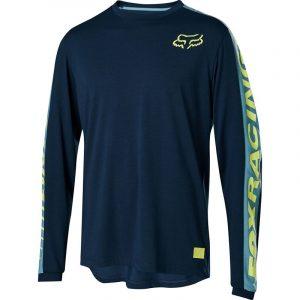 fox camiseta jersey mtb ranger dr foxhead ls azul navy enduro dh trail xc (2)