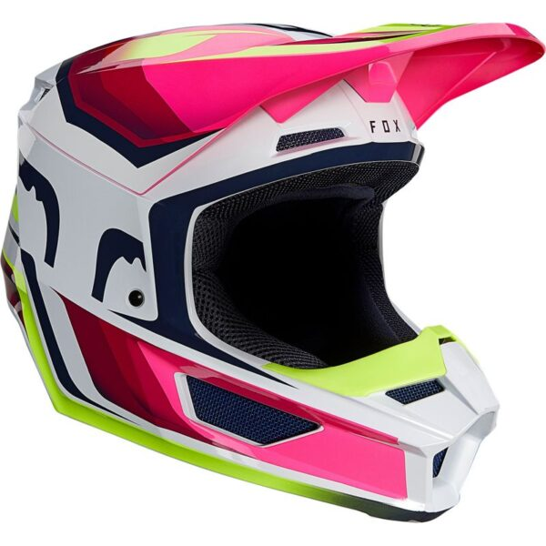 fox casco mx enduro V1 Tro flou yellow rosa crosscountry madrid (2)