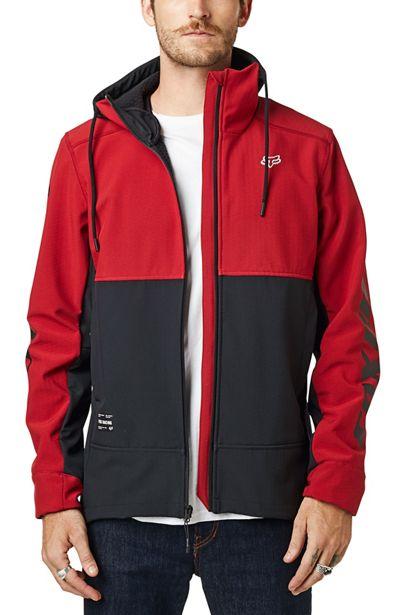 fox chaqueta Pit shoftshell roja motocross enduro (1)