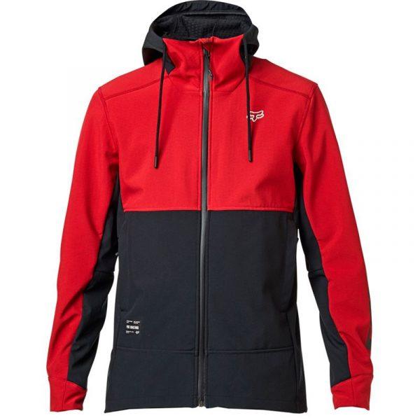 fox chaqueta Pit shoftshell roja motocross enduro (2)
