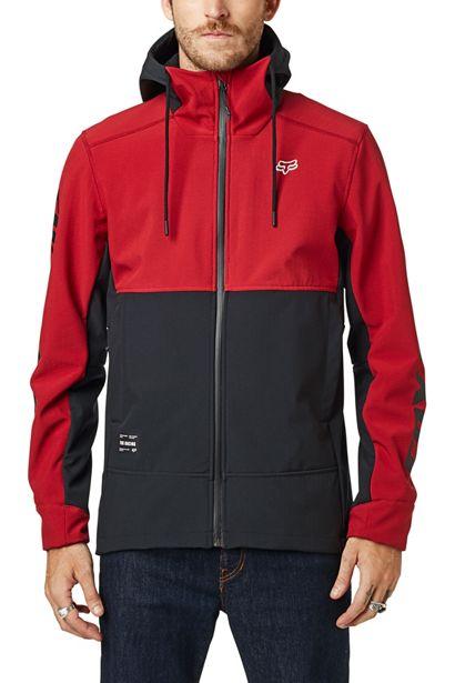 fox chaqueta Pit shoftshell roja motocross enduro (4)