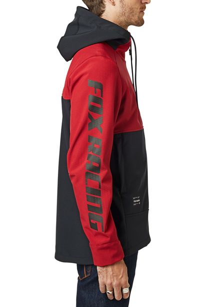 fox chaqueta Pit shoftshell roja motocross enduro (5)