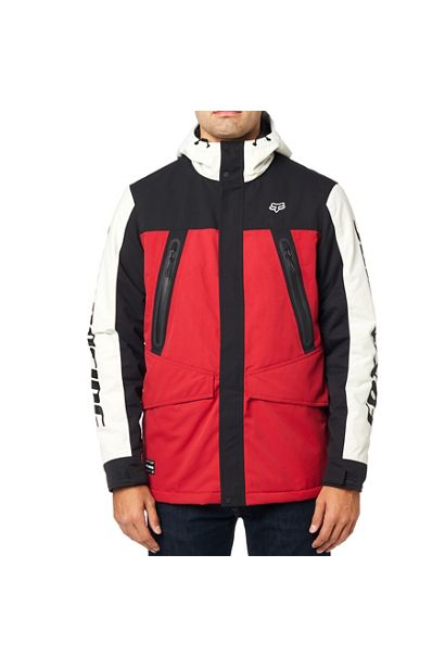 fox chaqueta arlington negra roja rebajas (4)