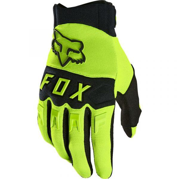 fox guantes dirtpaw amarillo fluor