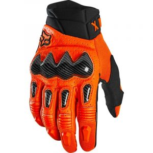 fox guantes bomber naranjas