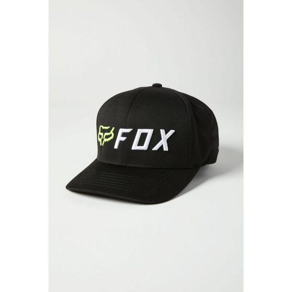 gorra fox apex negra amarilla fluor nueva coleccion 2021 (3)