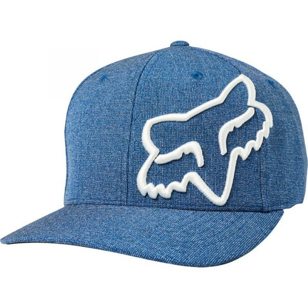 gorra fox clouded vaquera azul logo blanco (1)