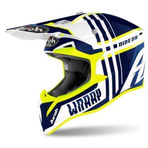 motocross enduro casco airoh wraap azul
