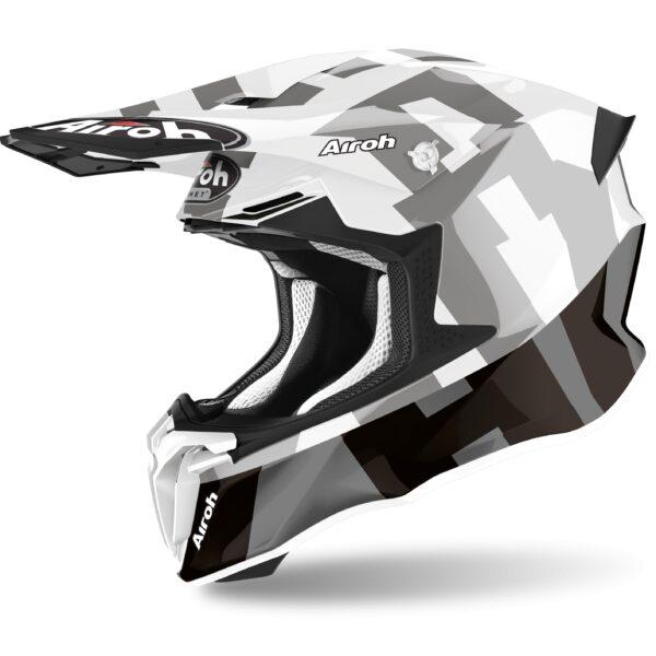 motocross enduro casco twist frame negro