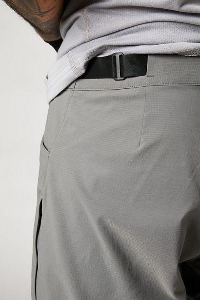 pantalon fox mtb bici ranger 2021 gris con badana (1)