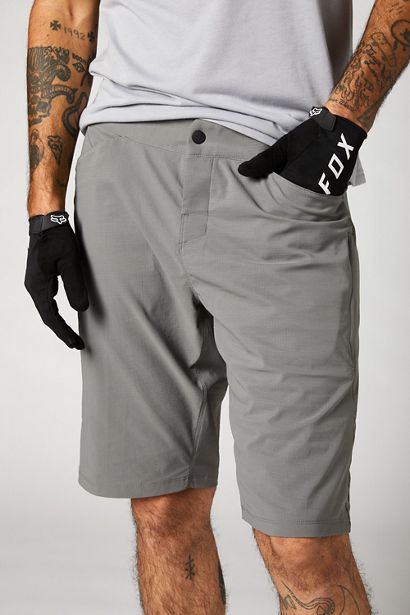 pantalon fox mtb bici ranger 2021 gris con badana (4)