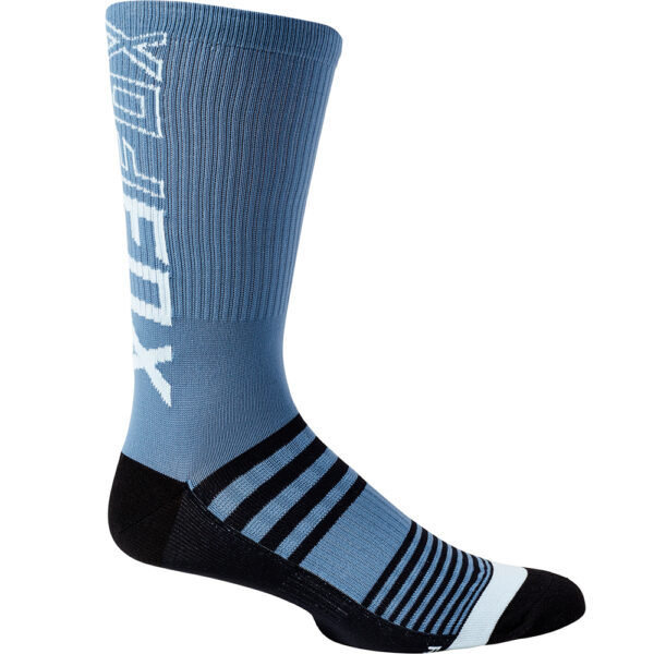 calcetines fox mtb bici azul 8 pulgadas altos