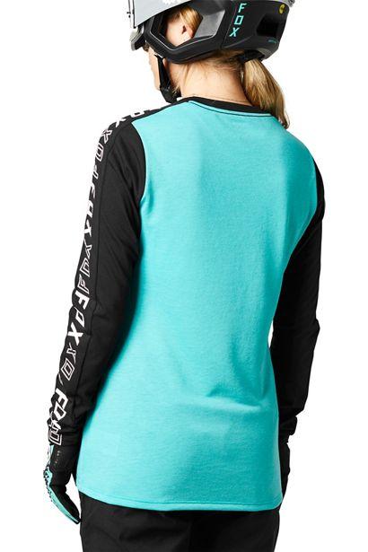 camiseta chica fox mtb ranger negra y azul turquesa ya disponible la nueva coleccion en crosscountry shop madrid (1)