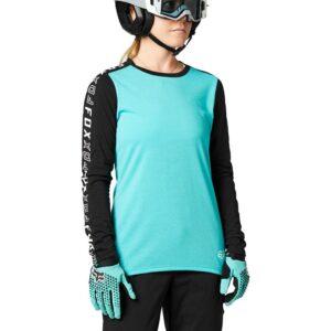 camiseta chica fox mtb ranger negra y azul turquesa ya disponible la nueva coleccion en crosscountry shop madrid (2)