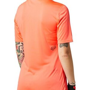 camiseta fox chica mtb ranger naranja coral fluor logos negros disponible en crosscountry shop madrid (1)