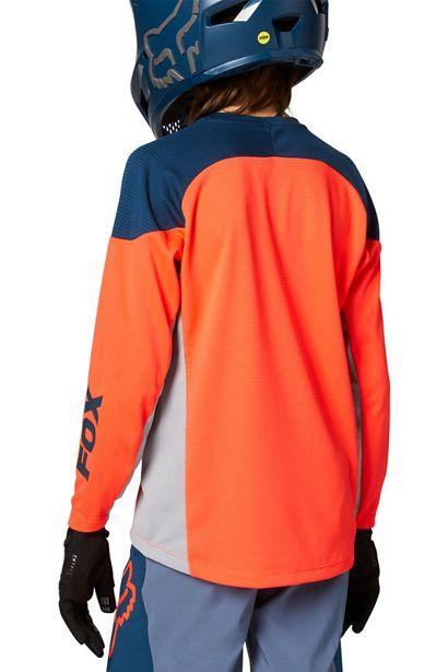 camiseta fox niño defend naranja fluor y azul nueva coleccion fox verano 2021 cçen crosscountry shop madrid españa (1)