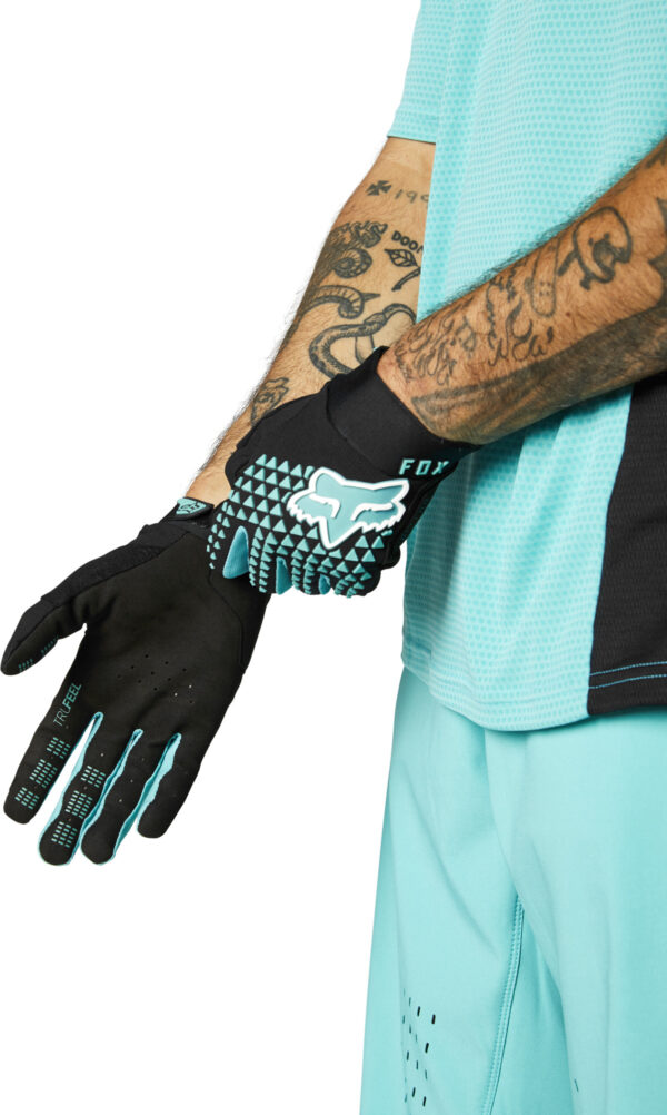 fox guantes defend teal azul mtb moto (1)