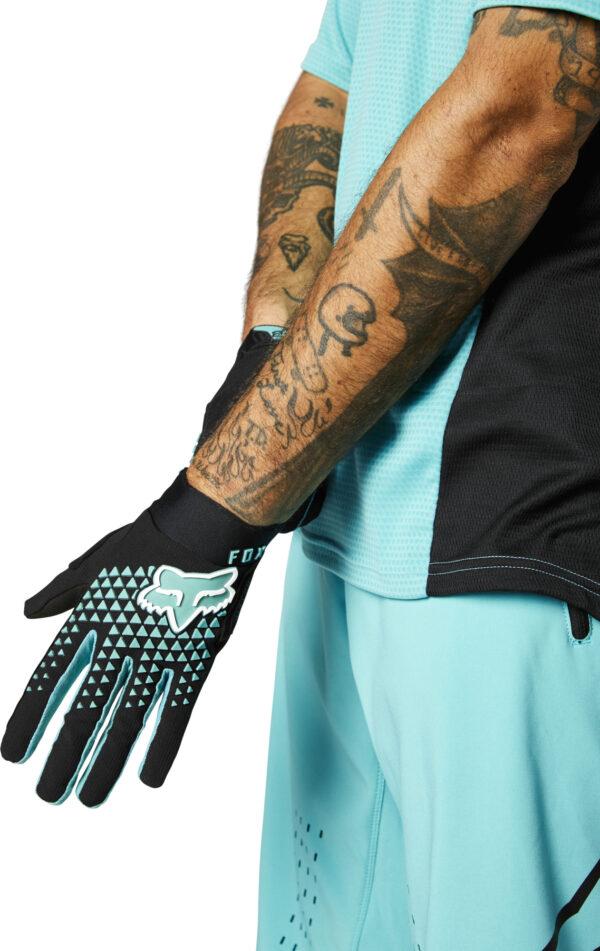 fox guantes defend teal azul mtb moto (2)