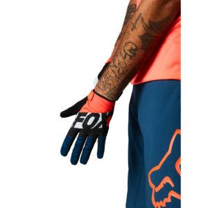guantes fox ranger gel mtb bici naranja atomic punch (2)