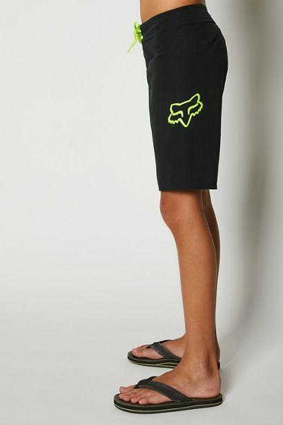 bañador niño Fox Overhead negro logo amarillo fluor tienda madrid (1)