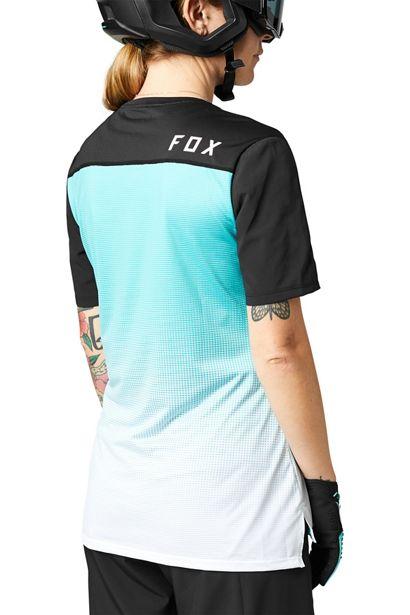 camiseta chica mujer manga corta Fox flexair teal crosscountry (1)