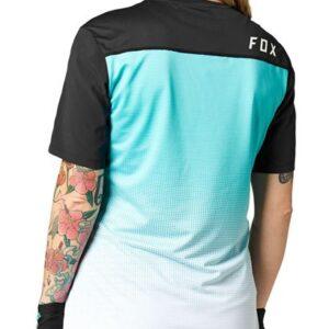 camiseta chica mujer manga corta Fox flexair teal crosscountry (3)