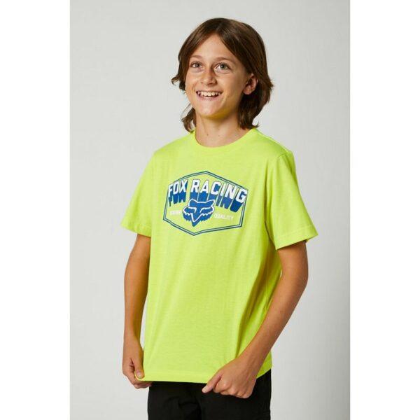 camiseta fox niño foundation roja amarilla fluor nueva coleccion ya disponible en crosscountry shop madrid (2)