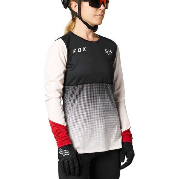 camiseta mujer chica Fox Flexair rosa negra 2021 barata madrid crosscountry (2)