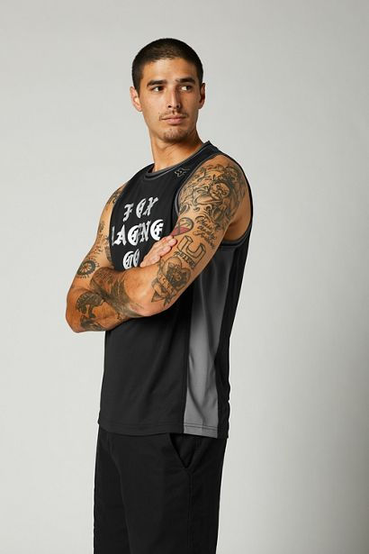camiseta tirantes Fox Top Coat Bball negra crosscountry (1)