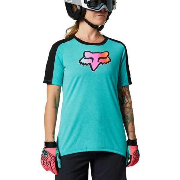 camiseta fox mujer ranger drirelease teal (2)
