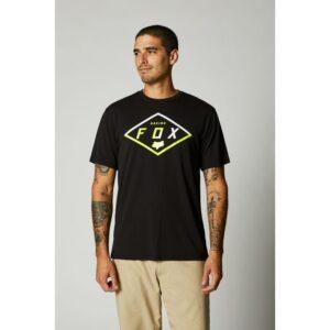 camiseta fox tech badge gris negra disponible en crosscountry shop (2)