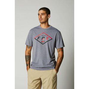 camiseta fox tech badge gris negra disponible en crosscountry shop (4)