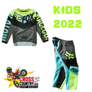 TRAJE FOX 2022 KIDS TRICE TEAL