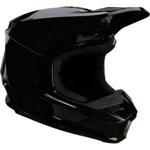 casco fox v1 motocross 2022 plaic negro brillo disponible en crosscountry shop madrid (2)