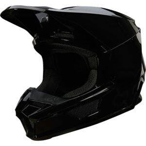 casco fox v1 motocross 2022 plaic negro brillo disponible en crosscountry shop madrid (3)