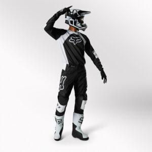 traje fox 180 lux negro blanco
