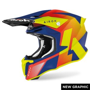 casco airoh twist 2.0 lift azul mate disponible en crosscountry shop madrid